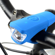 2017 New USB Charge Bicycle Bike Light Silica Headlight Riding Flashlight Bicycle Light Accessories Hot Wholesale Mar 22