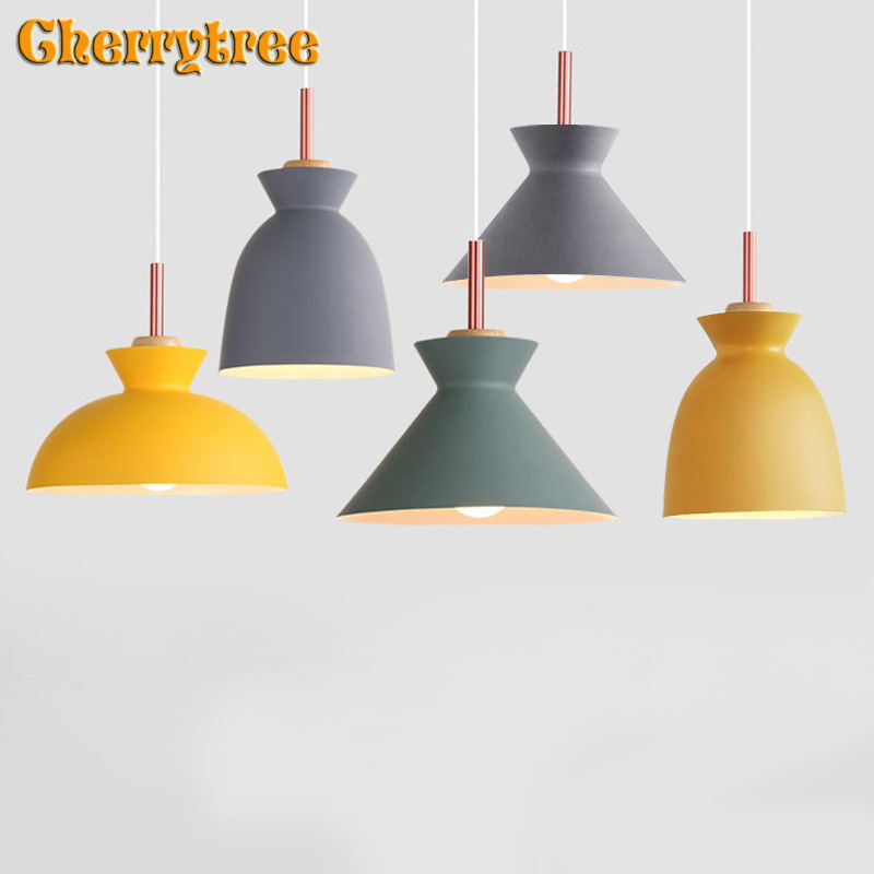 Luminaires suspendus lampe nordique lampe suspension moderne en métal coloré décor à la maison design salle à manger cuisine luminaires de cuisine