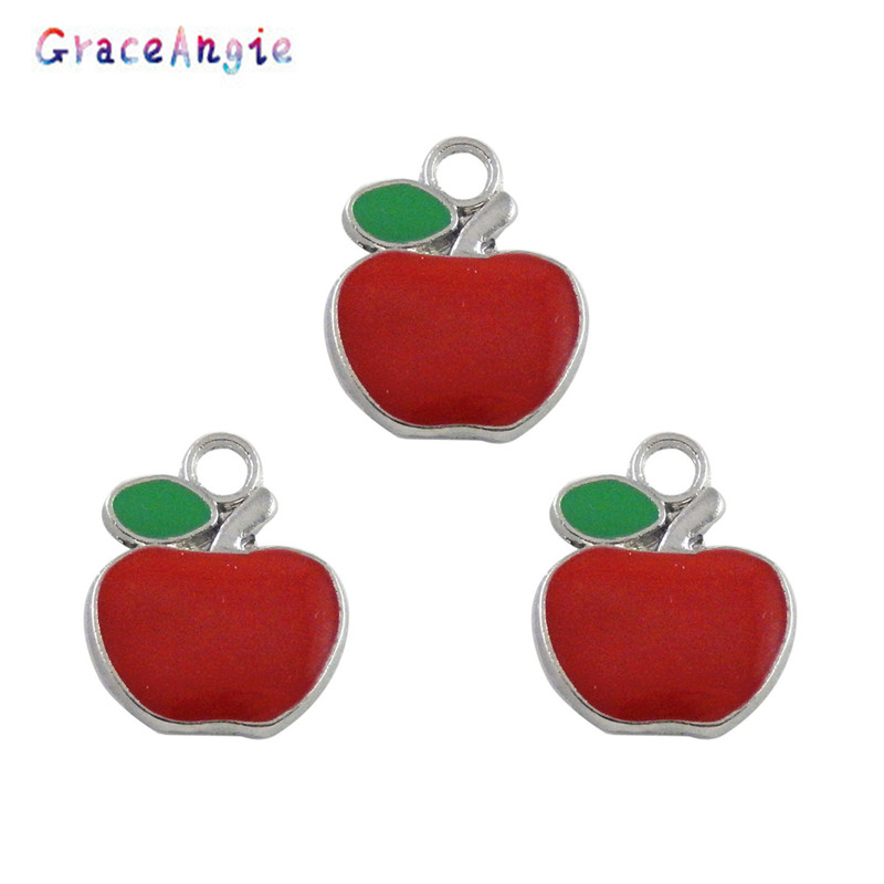20pcs 25*18*2mm White K Alloy Enamel Colorful Branch Shape Pendant Jewelry Craft