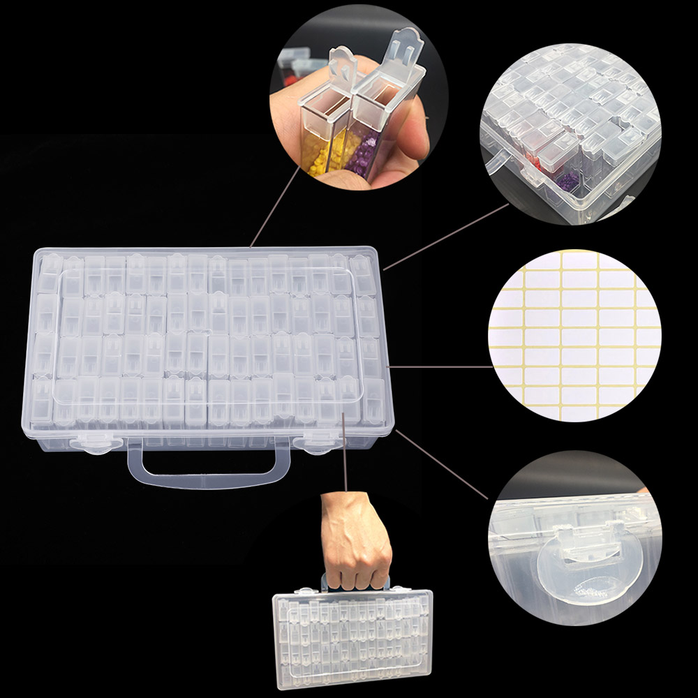 New Plastic Diamond Painting Accessories 64pcs Bottles Container Storage Box Diamant Painting Holder Daimond painting Box in Diamond Painting Cross Stitch from Home Garden