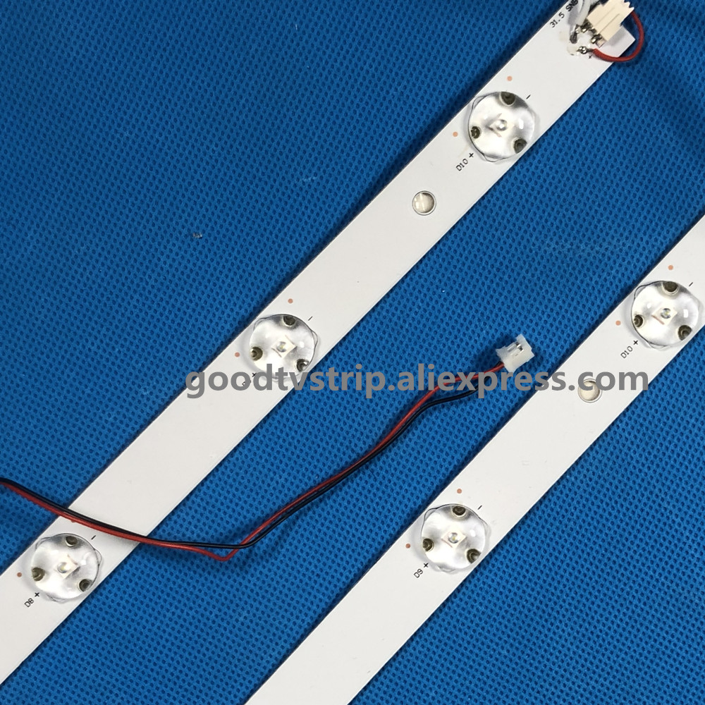 1 set 4 Pieces D32TS7202 Led backilght 32HR331M09A5 V1 Led strip 1pcs 580MM 9Led lamps Prefect