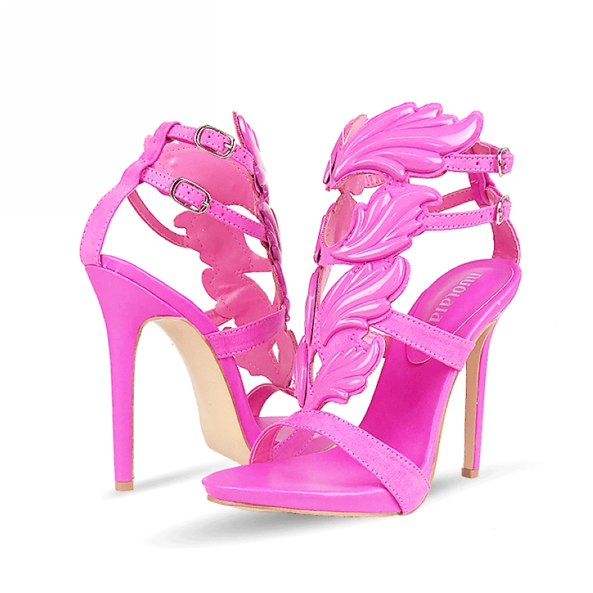 Sexy Women Pumps ON SALE High Heels Leaf Flame Sandals Shoes