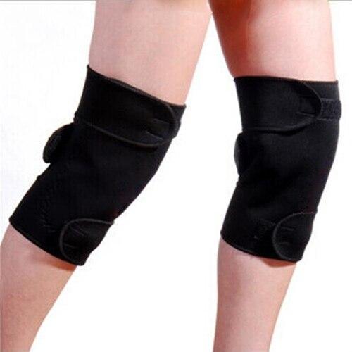 1 Para Gesundheit Pflege Turmalin Selbst Heizung Knie Pads Magnetische Therapie Knie Unterstützung Gürtel Massage Knie Spontane Heizung Pad