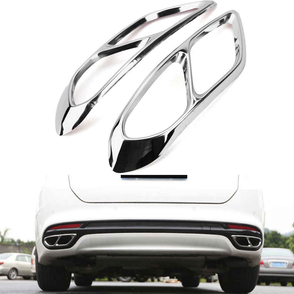for ford fusion mondeo 2013 2018 stainless steel car exhaust end tip pipes muffler trim