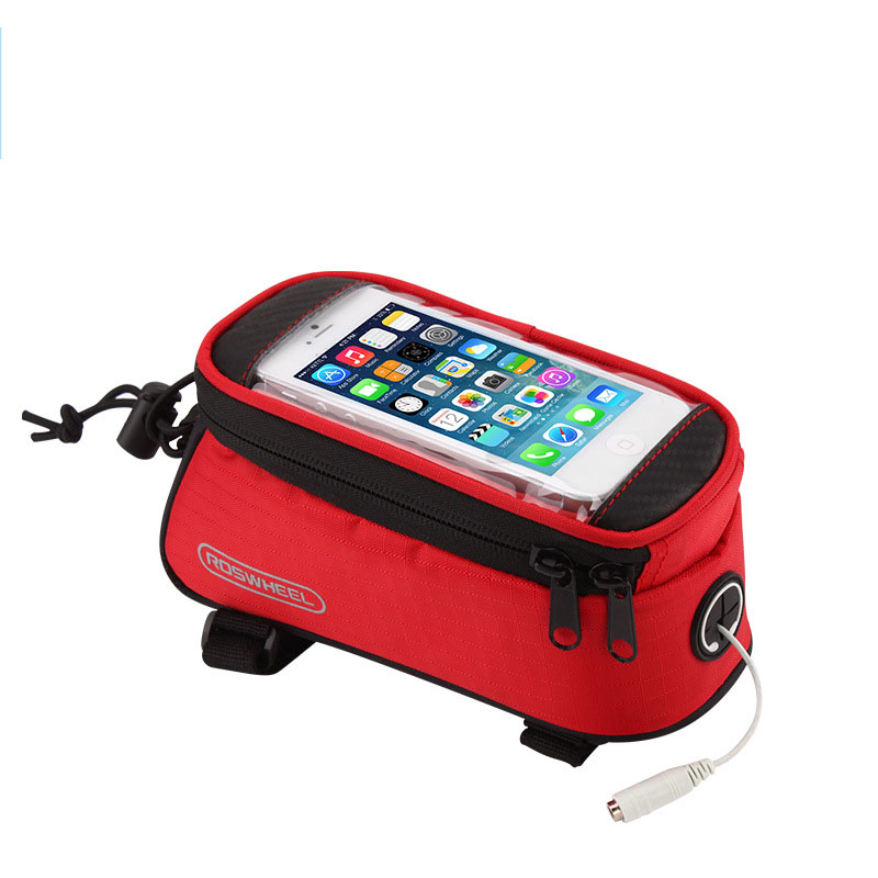 BICYCLE BAGS CYCLING BIKE FRAME BAGS HOLDER PANNIER MOBILE PHONE BAG CASE POUCH in Bicycle Bags Panniers from Sports Entertainment