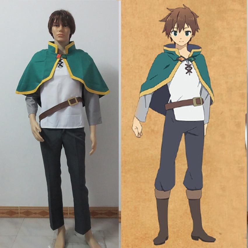 KonoSuba God's Blessing on this Wonderful World Satou Kazuma Cosplay Costume
