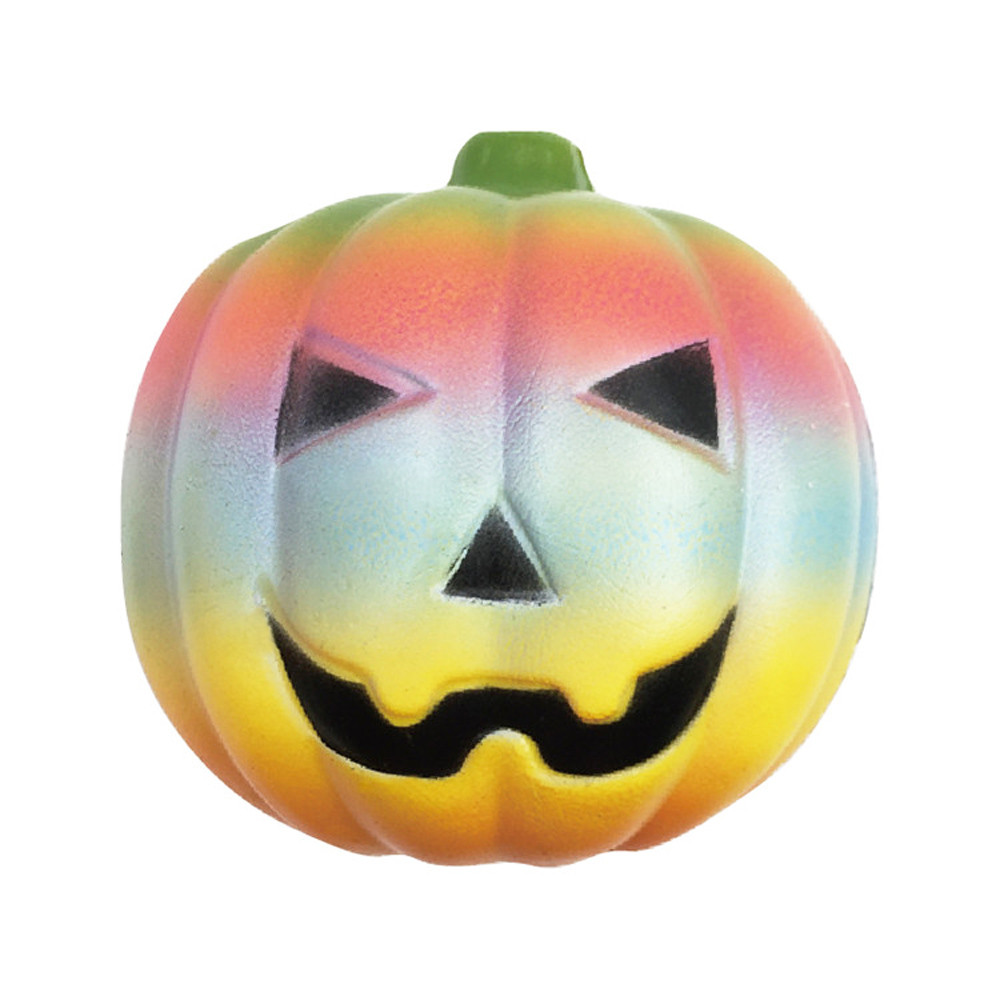 HIINST New Exquisite Fun Rainbow Pumpkin Scented Squishy Charm Slow Rising 10cm Kids Toys p30 apr12 drop shipping