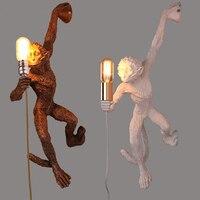 Wandlamp Replicas высокое качество Nordic белая Смола подвесная обезьяна настенная лампа для чтения для спальни светодиодный настенный светильник пр