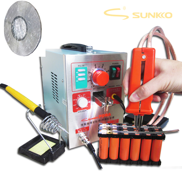 3.2kw LED soudeuse par points de batterie d'impulsion 709a Machine de soudage par points de Station de fer à souder pour 18650 batterie + rouleau 0.1*4mm bande de Nickel