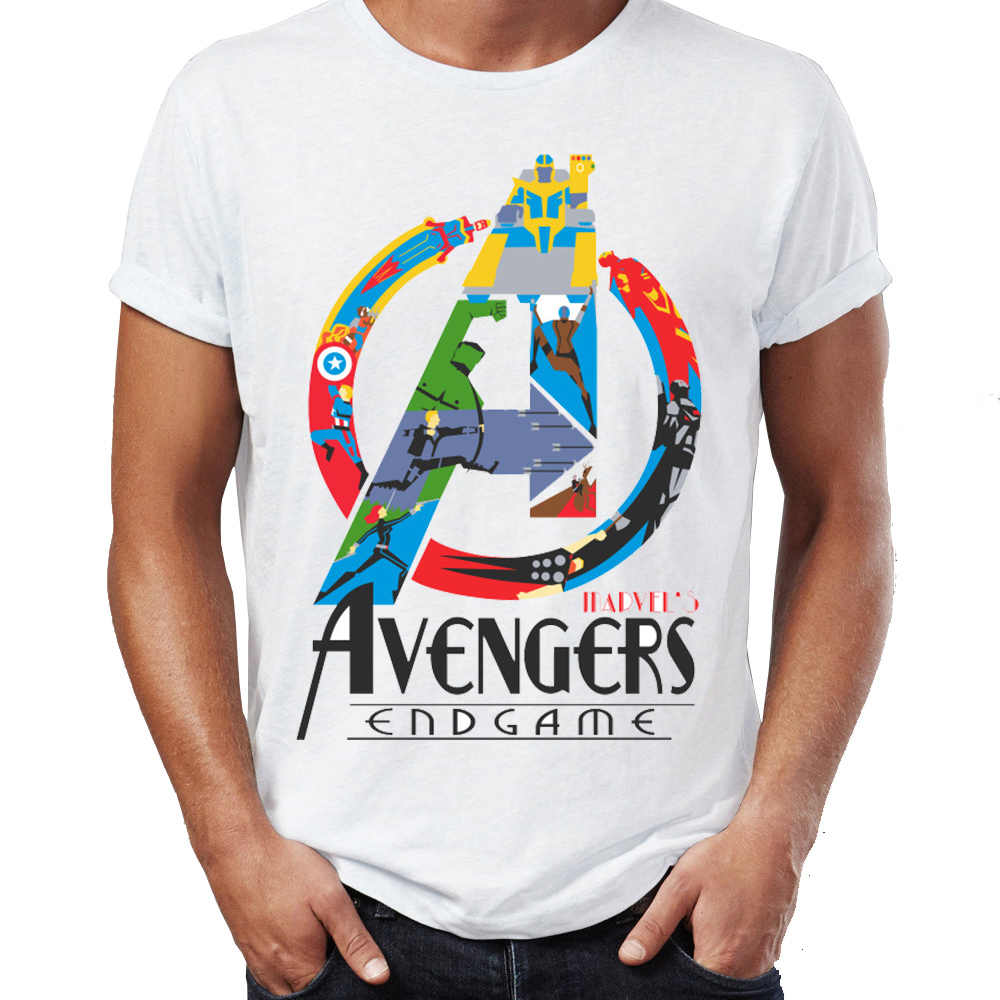 9dc56faf Men's T Shirt Avengers Endgame Iron Man Stark Funny Artsy Awesome Artwork  Printed Tee