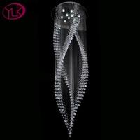 Youlaike Luxury Modern Crystal Chandelier Long Staircase Hanging Crystals Lighting Fixtures AC110 240V LED Lustres De Cristal