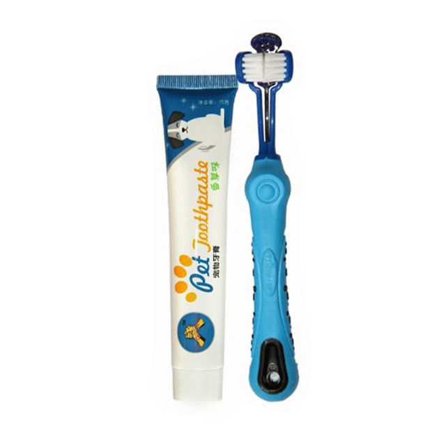 Supplies Oral Cleaning Teeth Care Toothbrush Toothpaste Comfortable Accessories Set Puppy Pet Dogs