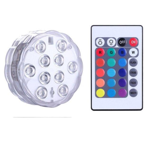 Batterij Aangedreven Dompelpomp LED Lamp met Afstandsbediening/RGB ...