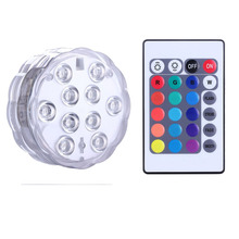 Battery Powered Submersible LED Lamp with Remote/ RGB Multi Color Changing Waterproof Light for Aquarium, Pond, Wedding,Party