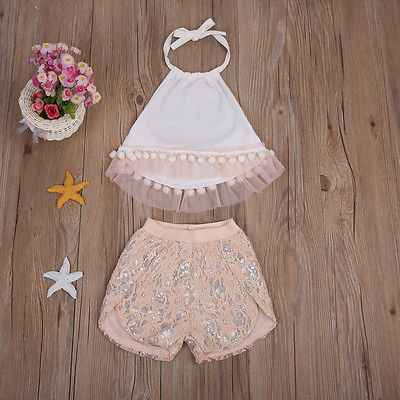 Newborn Kids Baby Girl Infant Romper Jumpsuit Bodysuit Tutu Dress Clothes Outfit ...
