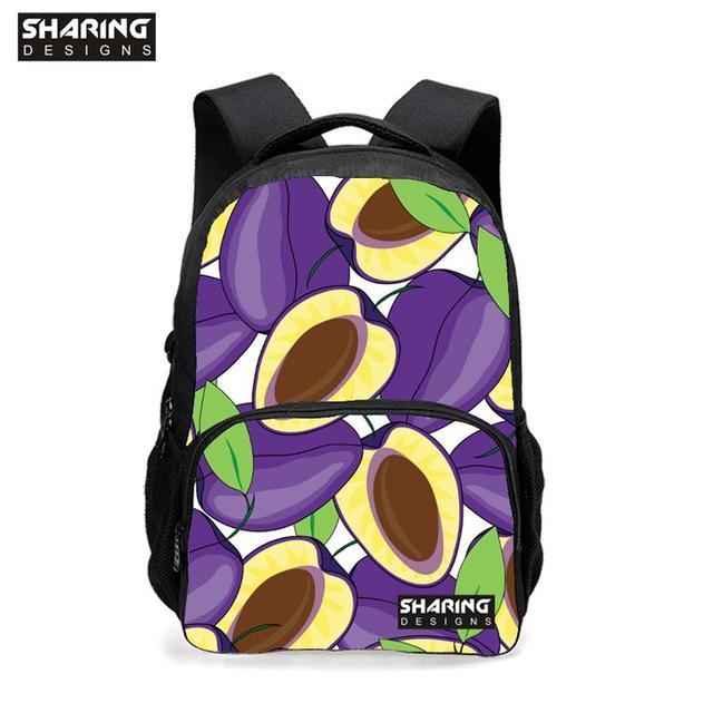 Moda de Los Grados 3-6 Impresión Mochilas Escolares Bolsas de ensalada de Frutas con naranjas, Gran Bolsa de Libros para Niños Estudiantes mochila Girls Moch