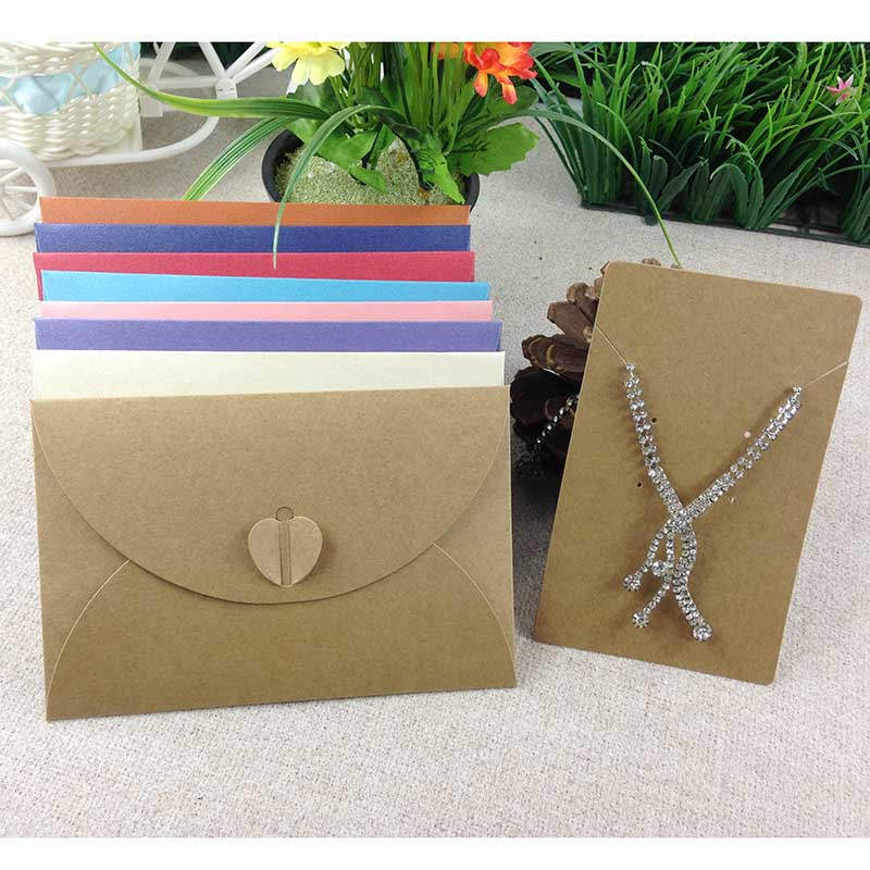 2017 Hot 20Sets /lot Necklace Display Envelope Packing Wedding Jewelry High  Quality  Box  Can Put Jewelry Set Necklace &Earring