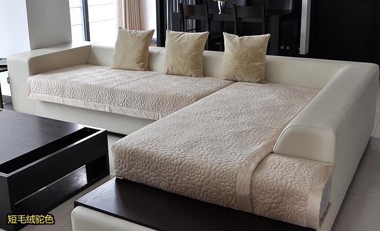 Decorative sofa cover <font><b>sectional</b></font> modern slipcover tan/beige suede <font><b>fabric</b></font> towel cover for the sofa simple sofa sets