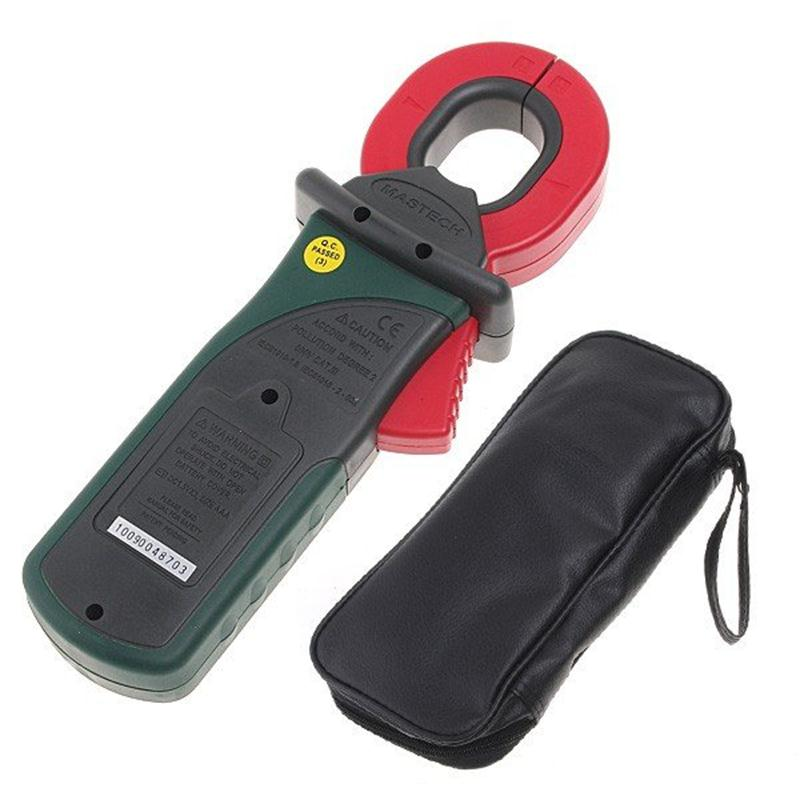 MASTECH MS2010B Digital Clamp Meter AC/DC Mini Handheld Tensão Corrente Resistência Tester Multímetro Multimetro com Cabos de Teste - 6