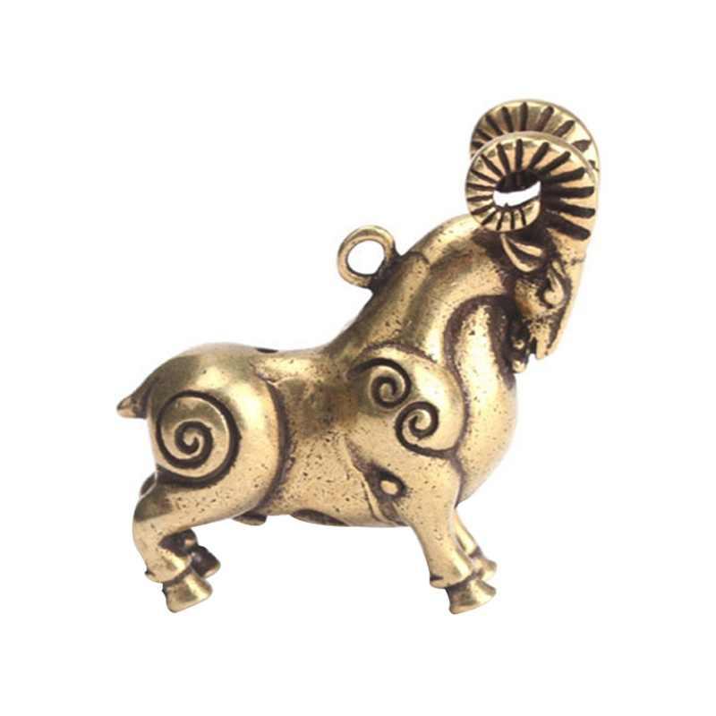 Solidny mosiądz Bull Sheep EDC 3D brelok ze zwierzętami wisiorek klucz wisiorek akcesoria na głowę narzędzia brelok sprzęt narzędzia zewnętrzne