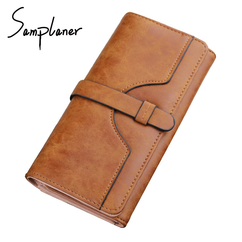 Large Capacity Women Wallet Dollar Price Clutch Bags PU Leather Lady Party Purse Female Long Zipper Wallets Bills Coin Purses