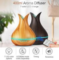 Latest 7 Color 400ml Oil Aroma Diffuser Air Mist Humdifier LED Ultrasonic Purifier Automation Modules
