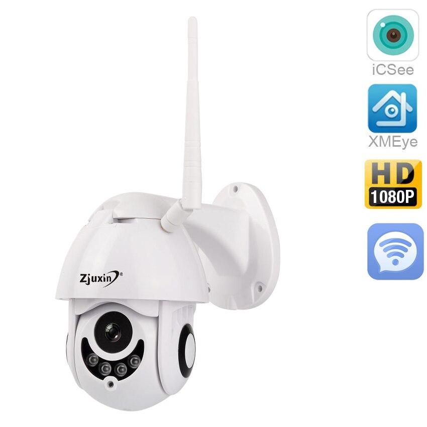 Zjuxin WIFI Caméra Extérieure PTZ IP Caméra 1080 p Vitesse Dôme CCTV Caméras de Sécurité IP Camara WIFI Extérieur 2MP IR maison Surveilance