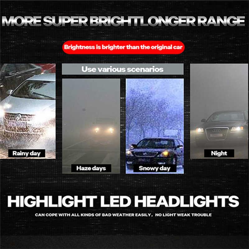 2pcs 2019 led h7 h4 H3 H8 H9 H11 H13  9005 hb3 9006 hb4  72W 12000lm 12v 24v  X3 H1  lamp car bulb headlight 24 Months Warranty