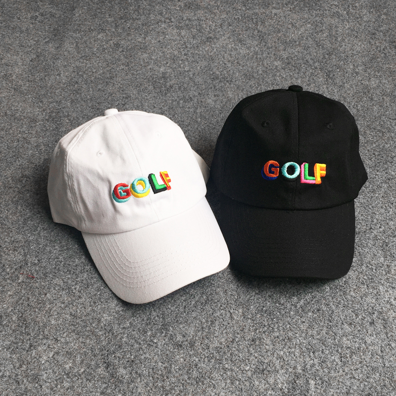 2018 GOLF Summer Embroidery Letters Hip Hop Baseball Cap Kanye West Men Women Harajuku snapback Bone Streetwear men women hat wholesale spring cotton cap baseball cap snapback hat summer cap hip hop fitted cap hats for men women grinding multicolor