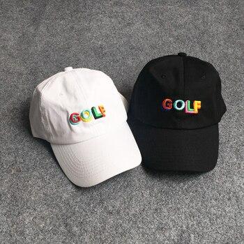 2018 GOLF verano bordado letras Hip Hop gorra de béisbol Kanye West hombres  mujeres Harajuku snapback hueso Streetwear hombres mujeres sombrero 8271cb55752
