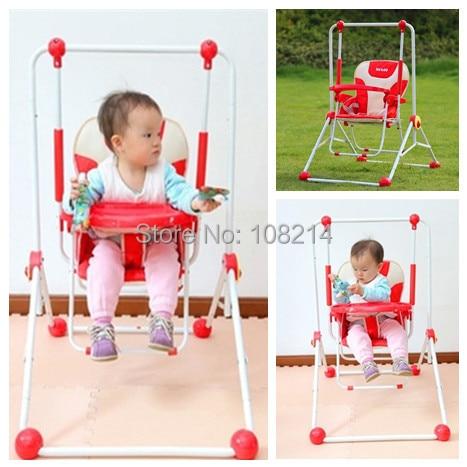 eb3d12ef0c24 3 Colors Indoor Baby Dining Chair High Grade Metal Outdoor Baby ...