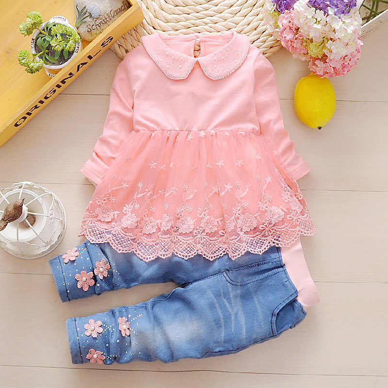Toddler Girl clothes 2019 New spring Autumn wear baby cowboy clothing sets 3pcs Kids baby cowboy suit children clothing sets