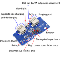 5V 2A Power Bank Charger Module Charging Circuit Board Step Up Boost Power Supply Module 2A Dual USB Output 1A Input цены онлайн