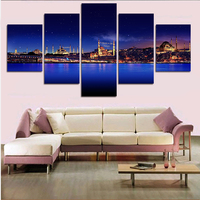현대 벽 예술 인쇄 5 개 추상 그림 홈 장식 그림 벽 웨딩 거실 캔버스 없음 프레