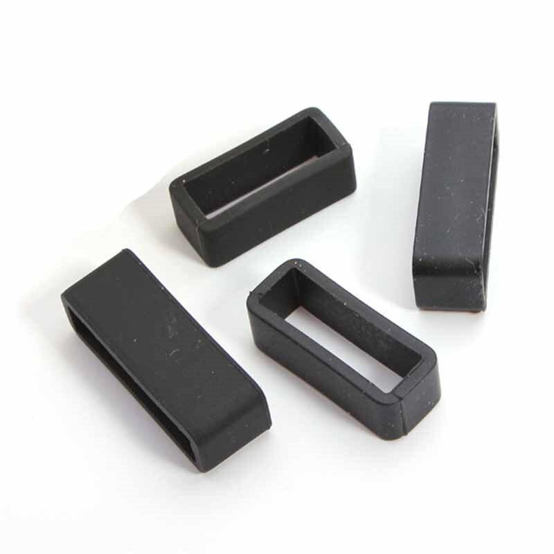 10/12/14/16/18/20/22/24/26/28mm Black Watch Strap Retaining Hoop Loop PVC Retainer Buckle Holde Wrist Watchbands Accessories