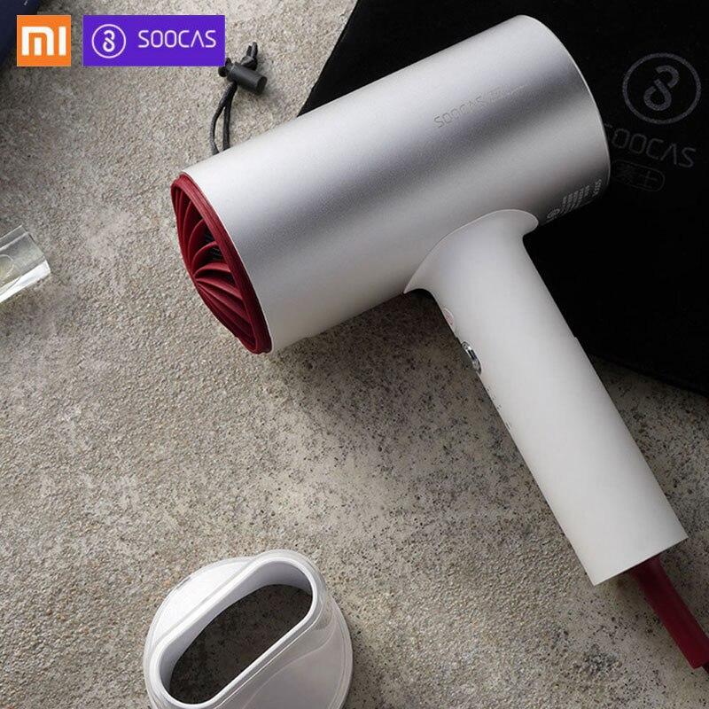 2018 Novo Xiaomi Soocare Soocas H3 Ânion Secador de Cabelo Corpo em Liga de Alumínio 1800W de Saída de Ar Inovador Anti-Quente projeto de desvio