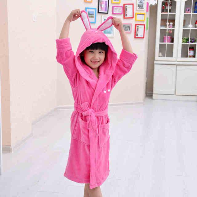 Розовый Цвет Симпатичный Хлопок Халат, теплый махровый халат