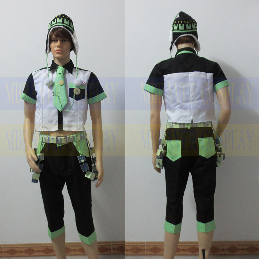 RAMAtical Murder DMMD Seragaki Noiz Full Set Cosplay Costume Custom Made Any Size