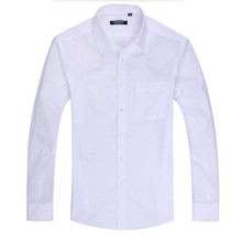 Formal occasions men long sleeve shirt the high quality pure white custom groom show thin professional business men shirts