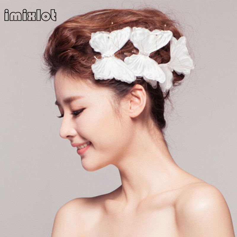 2017 Zinc Alloy Hairpins New Arrival Insect Classic Butterfly Headdress Hair  Clips Wedding Accessories Bridal Jewelry