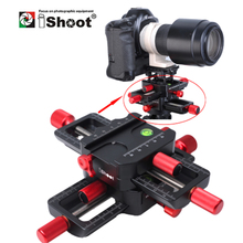 iShoot 150mm 4 way Macro Focusing Rail Slider Close up Head With Arca Swiss Fit Clamp Quick Release Plate for Tripod Ballhead