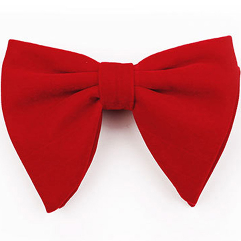 RBOCOTT Velvet Big Bow Ties For Men Women Fashion Novelty Solid Bowtie For Wedding Party Business Accessories Gift