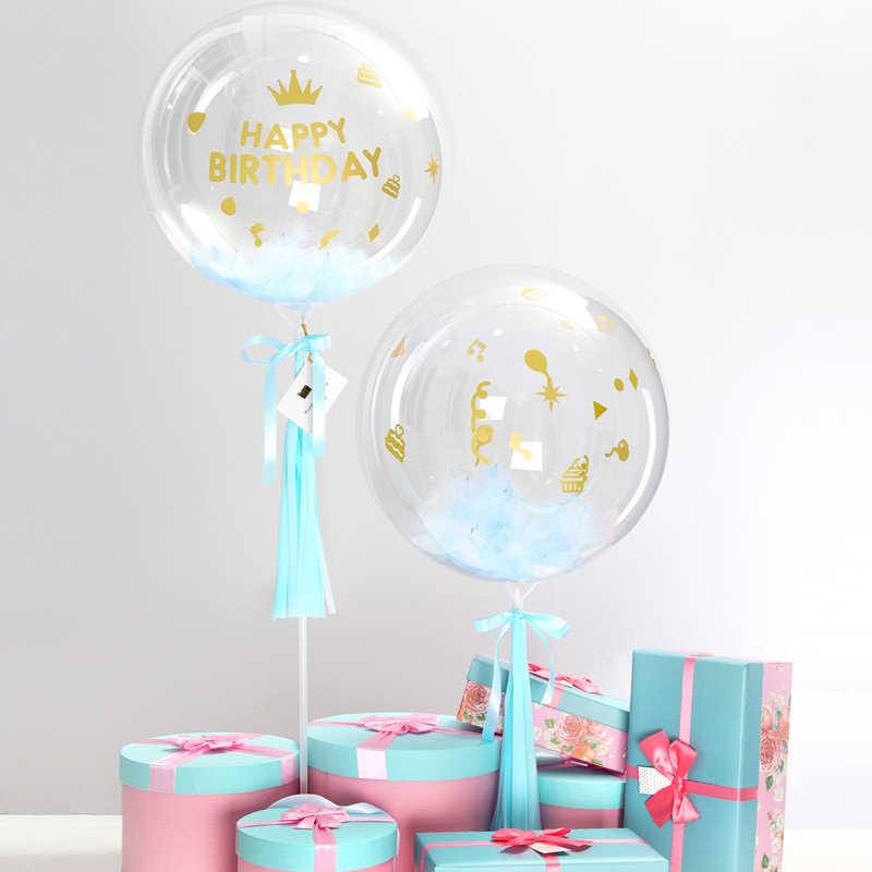 Feliz Cumpleaños Para Niño Claro 18 Globo De Burbuja Rosa