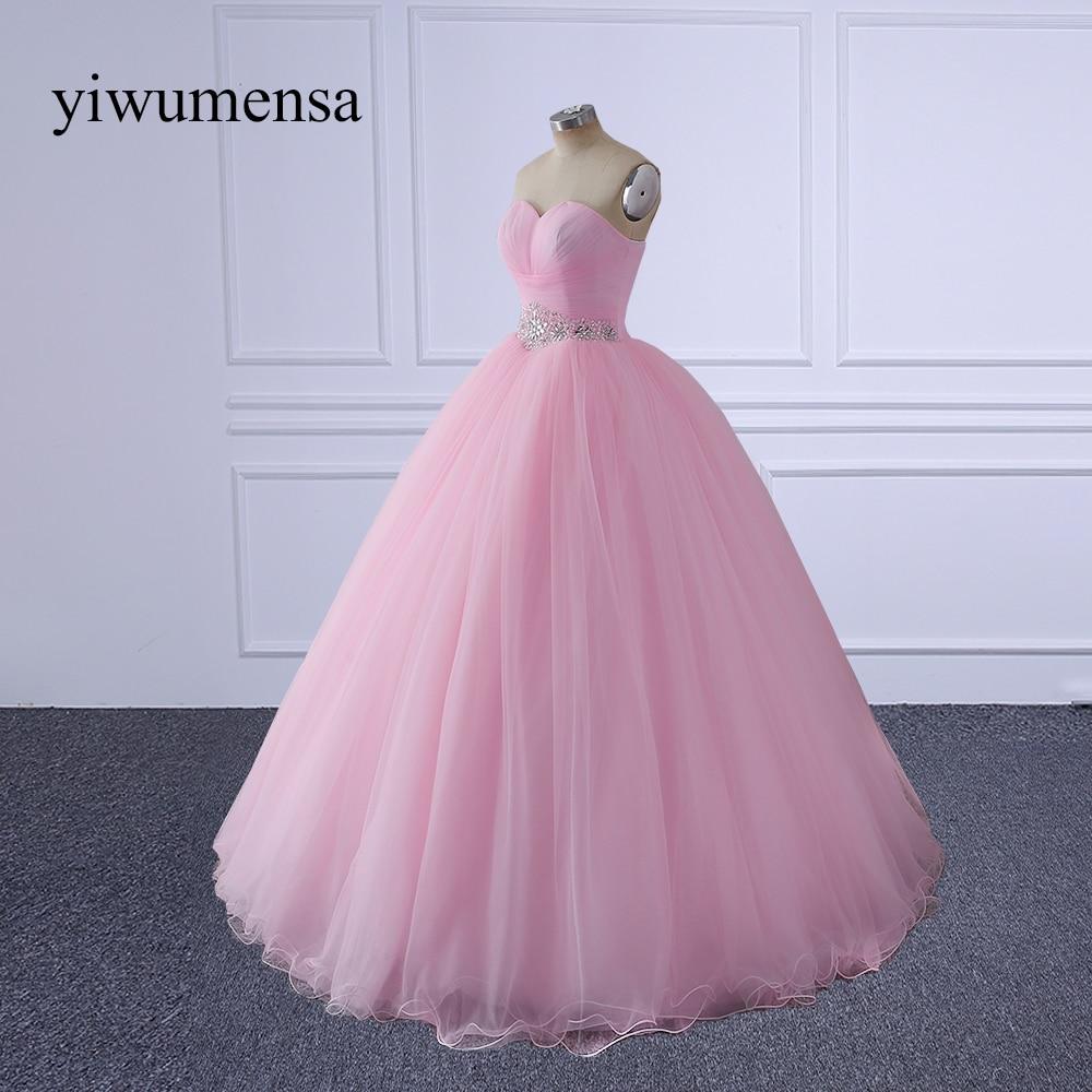 yiwumensa vestidos de novia sirena Pink Wedding dresses 2017 vestido ...