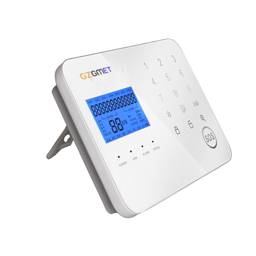 GZGMET New Design SIM Card Android IOS Phone App GSM  PSTN Wireless Alarm System Home Touch Host for Perimeter Security Kit yobangsecurity wifi gsm gprs home security alarm system android ios app control door window pir sensor wireless smoke detector
