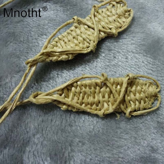 4b890b475e17c1 1 6 Scale Soldier Straw sandals Ancient Japanese samurai Shoes Model Hand  knit For 12inch Action Figure Male Soldier Toy m3