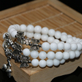 Free shipping white porcelain strand bracelets for women 6mm round beads wholesale price elegant women fashion jewelry B2263