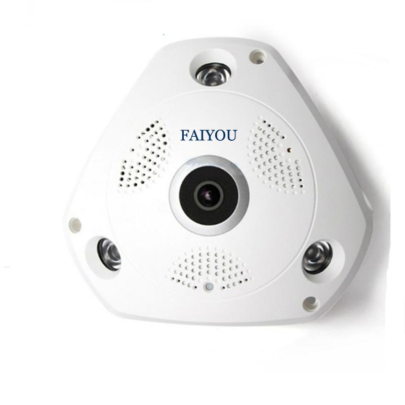 Панорамска ИП камера од 360 степени Фисхеие ВИФИ ЦЦТВ Цам ПТЗ 3Д ВР Видео П2П 720П Аудио за кућну Офиице Безбедност Даљ.