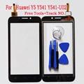 """Бесплатная Доставка 4.5 """"высокое Качество Сенсорного Экрана Digitizer Сенсорная Панель Для Huawei Y5 Y541 Y541-U02 Переднее Стекло Сенсорный Экран + Инструменты"""