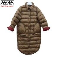 2017 Ultra Hafif Aşağı Ceket Kadın Kış Mont Siyah Palto sıcak % 90% Ördek Aşağı Yastıklı Uzun Kış Ceketler Kadın Aşağı Parka
